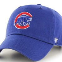 Forty Seven Brand Chicago Cubs Clean Up Cub Logo Hat In Royal