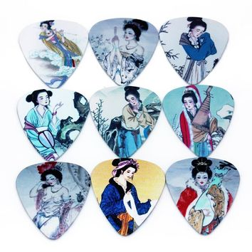 Zonael 10pcs 0.71mm Bass Guitar Picks Stainless Steel Acoustic Electric Guitarra Plectrums Custom Musical instrument   Strings