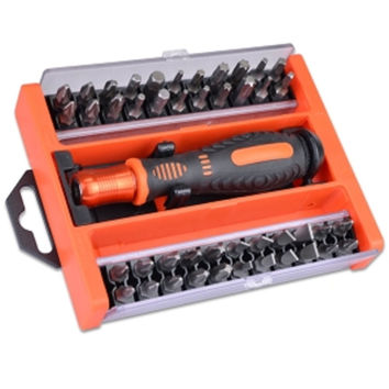 (6-Pack) 45-Piece Quick Release Screwdriver Holder & Assorted Bit Set w/Case