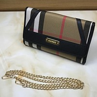 Burberry Women Fashion Leather Chain Satchel Shoulder Bag Handbag Crossbody