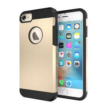 With Original Logo 4s 5s Hard Armor Case TPU+PC Hybrid Tough Cover For Apple iPhone 5 5s SE 4 4S Slim Capa Silica Gel Shell