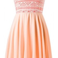 The Peach Tribal Sweetheart Dress