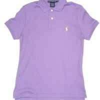 Ralph Lauren Sport Womens Polo Shirt in Lavender (Light Yellow Pony) (CLASSIC FIT) $54.99