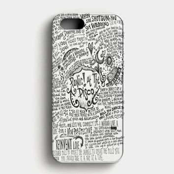Panic! At The Disco Lyric 3 Cover iPhone SE Case