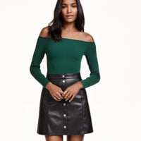 Off-the-shoulder Top - from H&M