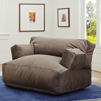 Charcoal Wide Wale Cord Eco Lounger