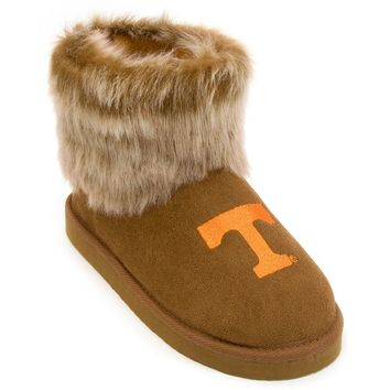 Tennessee Volunteers Faux-Fur Bootie Slippers Women