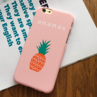 Pink Fruit Pineapple Printed Iphone 7 7Plus & 6 6s Pus &5 5s Cover Case
