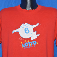 80s Missouri Lottery Lotto Ball t-shirt Extra Large