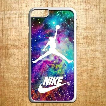 Michael Jordan on galaxy nebula new custom for iphone 4/4s/5/5s/5c/6/6+, Samsung S3/S4