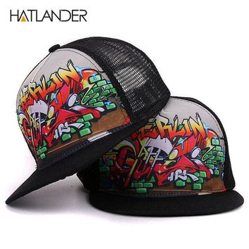 Baseball cap for boys girls cool hip hop caps snap back summer sun hats mesh trucker caps men women
