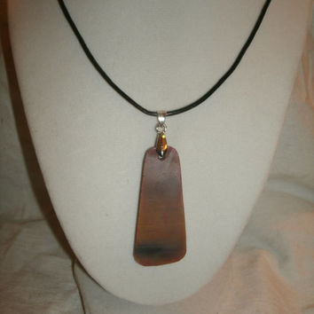 Arizona Petrified Wood Pendant Necklace - not polished, just smoothed, beautiful fossil wood,, as natural as I could get it,  nature lovers