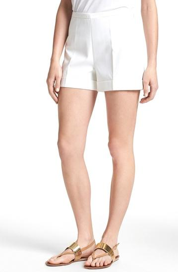Ted Baker White Cuffed Shorts From Awra Boutique Shorts
