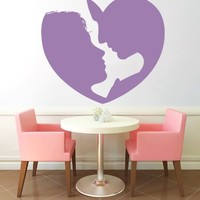 Wall Vinyl Sticker Decal Couple Forming a Heart Nursery Room Nice Picture Decor Mural Hall Wall Ki858