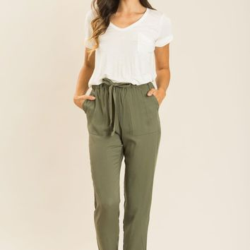 Christy Olive Pants