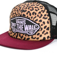 Vans Beach Girl Burgundy Leopard Trucker Hat
