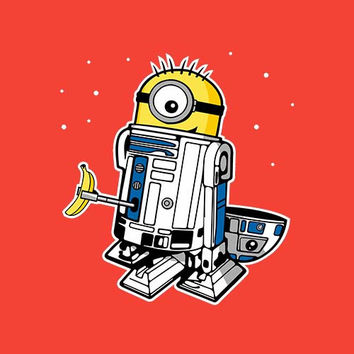 R2D2 Minion Adult Tee Shirt
