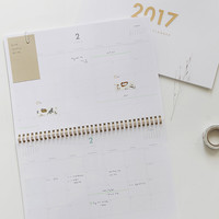 2017 Dailylike Wirebound dated dual monthly planner