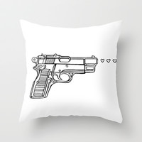 Love Gun Throw Pillow by Allison Sweeney