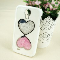 Double Hearts Dancing Diamond Case for Samsung Galaxy S4 i9500/i9505