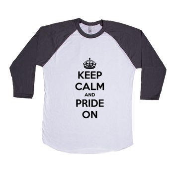 Keep Calm And Pride On Gay LGBT Lesbian Bisexual Transgender Asexual Pansexual Relationship Relationships SGAL2 Baseball Longsleeve Tee
