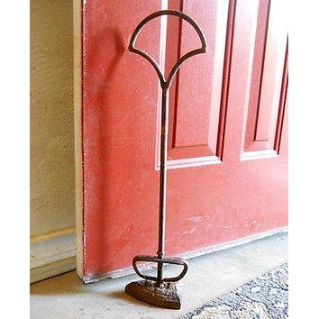 "New 21 1/2"" Tall  Vintage Look Cast Iron ""SadIron"" Doorstop w/Handle Antique"