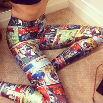 Batman Comic Book Leggings
