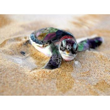 Full Sea Turtle 5D DIY Diamond Painting Embroidery Needlework Animal Cross Stitch Round Rhinestone Room Decoration Gift Hot Art