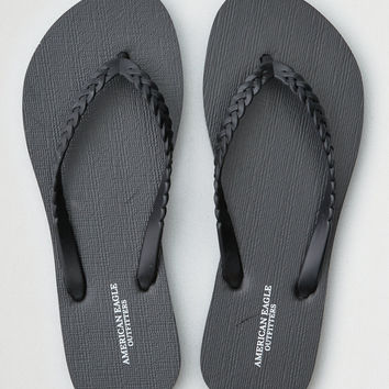 AEO Braided Flip Flop, Black