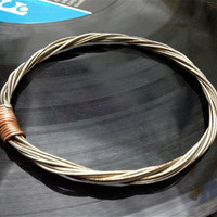 Recycled Electric Guitar String Bracelet without ball ends Unisex