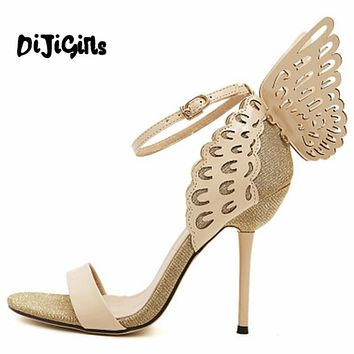 Sophia Webster Butterfly Wings Women High Heels Bowtie Summer Shoes Sandals Woman Pointed Toe Ankle Strap Shoes Pumps