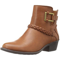 Easy Street Womens Bridle Faux Leather Booties Ankle Boots