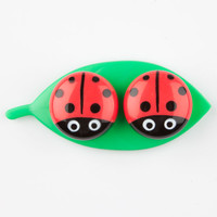 Kikkerland Ladybug Contact Lens Case Red Combo One Size For Women 25086034901