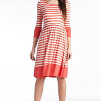 Stripe Jane Dress - 5 Colors Large Navy