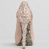 Boutique 9 Pumps - Cary Platform Glitter Back | Bloomingdale's
