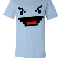 evil digital gamer geek face in squares - Unisex T-shirt