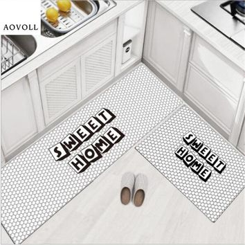 Autumn Fall welcome door mat doormat AOVOLL PVC Hot Sale Kitchen Mats For Floor  Decorate Home Carpet New Fashion Modern Nordic Style Rugs Thicker Area Rug AT_76_7
