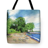 "Old Woman Creek - Huron Ohio Tote Bag for Sale by Shawna Rowe - 18"" x 18"""