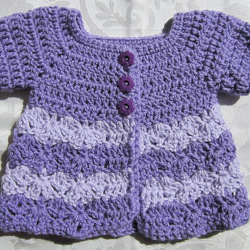 Crochet baby sweater, baby cardigan, baby button up sweater, crochet sweater, crochet cardigan, purple sweater, purple crochet sweater
