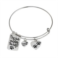 """Dog Hair Completes the Outfit"" Bangle Bracelet"