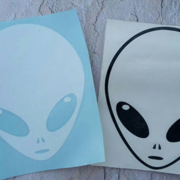"Alien Car Decal 5"" Tumblr Alien Alien Decal Tumblr Decal Alien sticker Tumblr stickers hipster decal"
