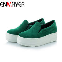 ENMAYER New Women Flats Casual Ladies Shoes Flats Women Sexy Footwear Fashion Lady Female Platform Flats Sale Size 34-43