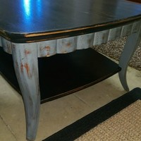 Grey and Black Large Coffee Table