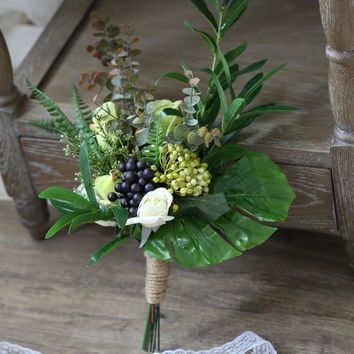 Wedding Bouquet Rustic Country Berry Bridesmaid Bouquet