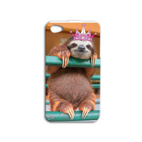 Cute Sloth iPhone Case Funny Sloth iPod Case Animal iPhone Case iPhone 4 iPhone 5 iPhone 5s iPhone 4s iPhone 5c Case iPod 4 Case iPod 5 Case