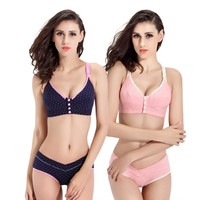 Bra+Panties Set Cotton Pregnant Bra Pregnancy Breast Feeding Bras For Maternity Panties Women Underwear Mother Clothes