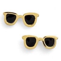 Women's Covet 'Pop Art' Stud Earrings - Black- Sunglasses