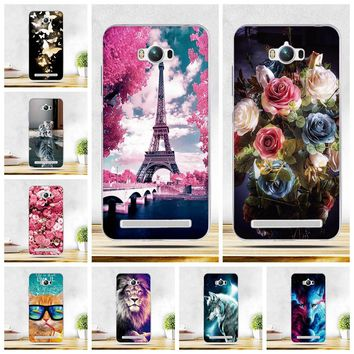 Soft TPU Case Cover For ASUS Zenfone Max ZC550KL Phone Skin Silicon Cases for Asus Max ZC550KL Back Coque 3D Relief Printing Bag