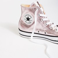 Metallic Hi Top Chucks