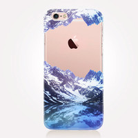 Transparent Mountains iPhone Case - Transparent Case - Clear Case - Transparent iPhone 6 - Transparent iPhone 5 - Transparent iPhone 4